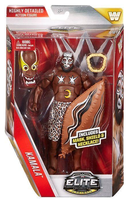 Kamala Wwe Elite Legends Mattel Toy Wrestling Action