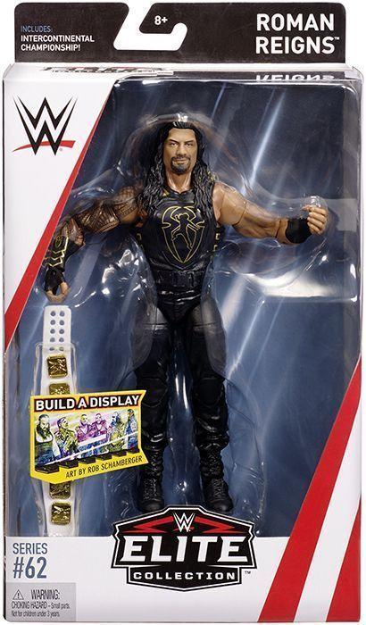 Roman Reigns Wwe Elite 62 Mattel Toy Wrestling Action Figure 887961572988 Ebay