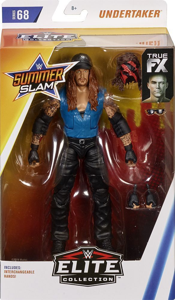 WWE WWF Defining Moments Elite Undertaker Wrestling Action Figure Kid Mattel Toy