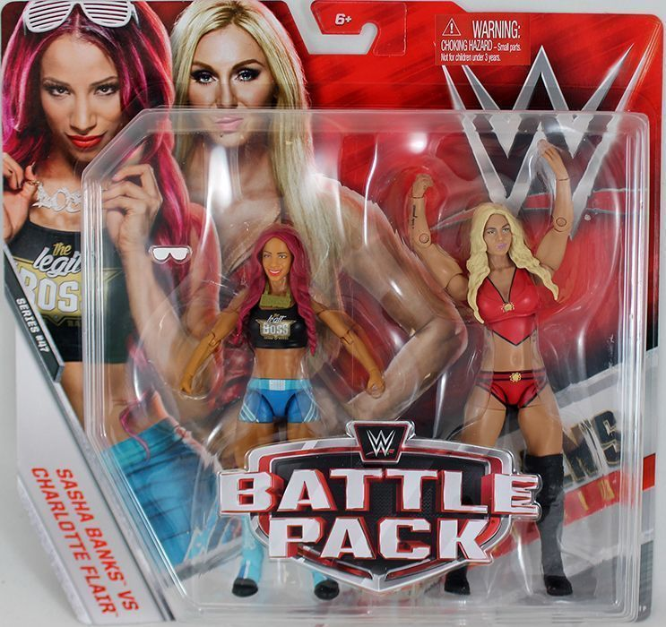 Wwe Girl Toys : Sasha banks charlotte flair wwe battle packs mattel