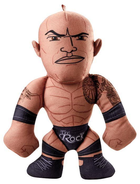 The rock wwe small plush buddies mattel toy wrestling action figure