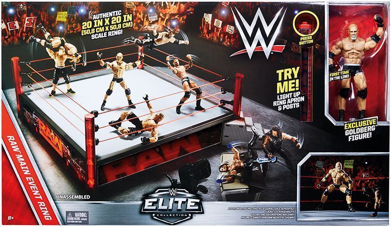 Toys R Us Wwe Rings : Quot wwe main event raw elite scale wrestling ring w